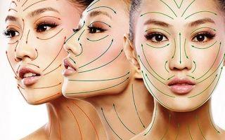 Массажные линии: методика лицевого массажа