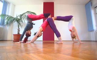 Позиции йоги для троих особ