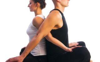 Йога в парах — совместное расслабление вдвоем