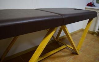 Как сделать массажный стол своими руками