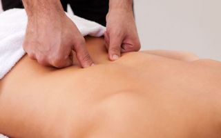 Массажные техники при остеохондрозе спины