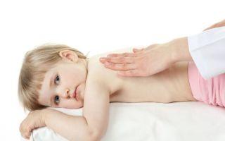 Как вывести мокроту у ребенка при помощи дренажного массажа