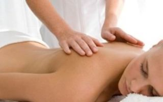 Массаж грудного отдела позвоночника при остеохондрозе