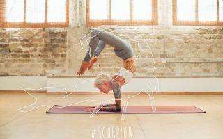 Поза йоги скорпион – это здоровье тела и души