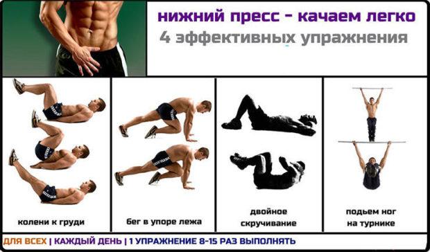 Упражнения для пресса мужчин