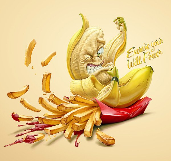 Банан побеждает картошку
