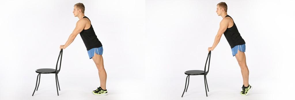 Подъем на носки с опорой на стул