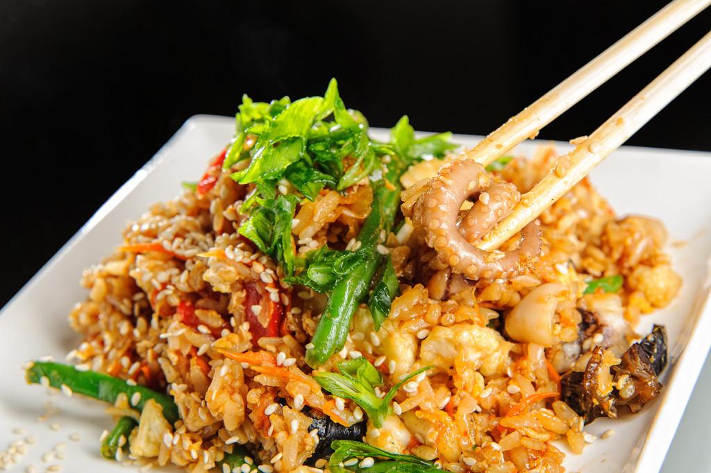 Рис и морепродукты