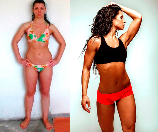 диета для сушки тела до и после2