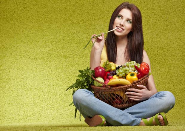 Фрукты и овощи - основа рациона для похудения