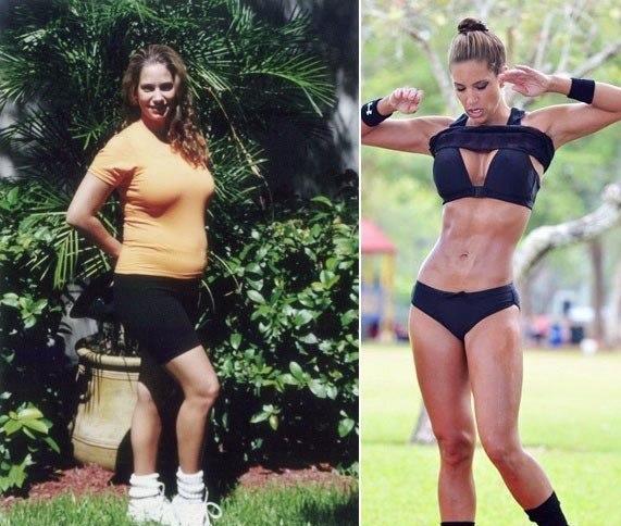 До и после занятий после родов