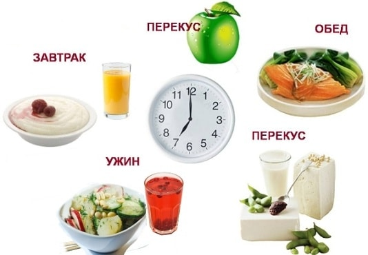 Количество приемов пищи - схема питания