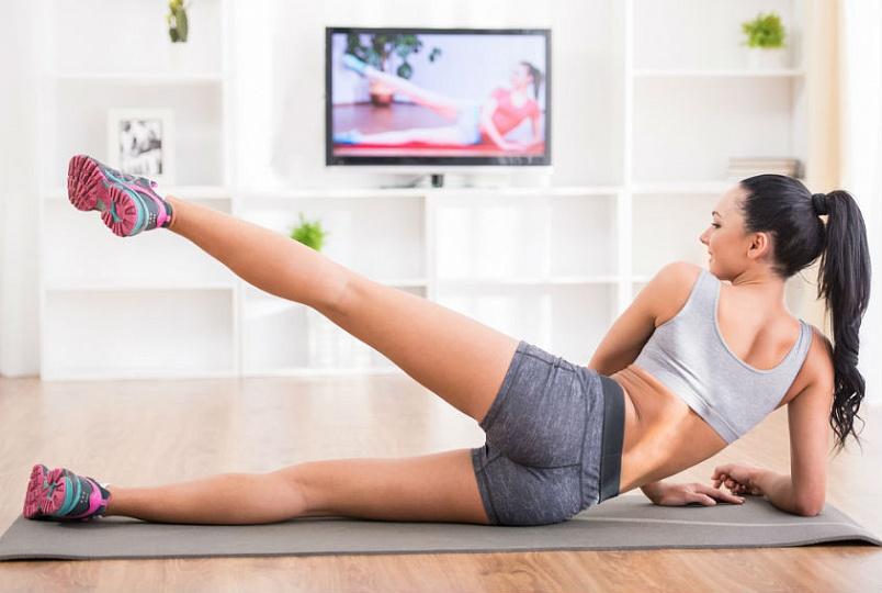 фитнес перед телевизором
