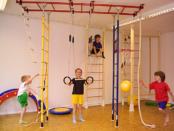 Дети и шведская стенка