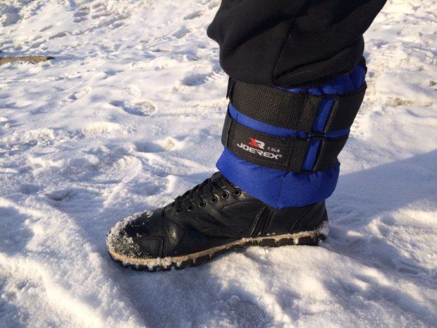 Утяжелитель на ноге - для зимнего бега