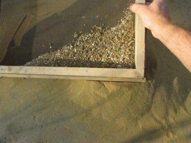 Просеянный песок для наполнения
