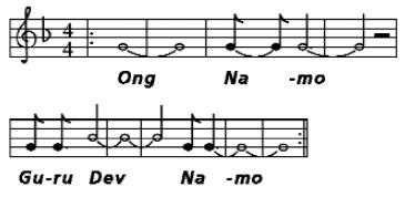 Онг Намо Гурудев Намо - ноты мантры