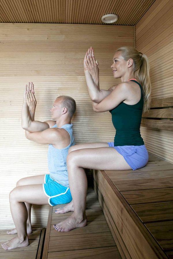 Бикрам йога в сауне - для опытных практиков