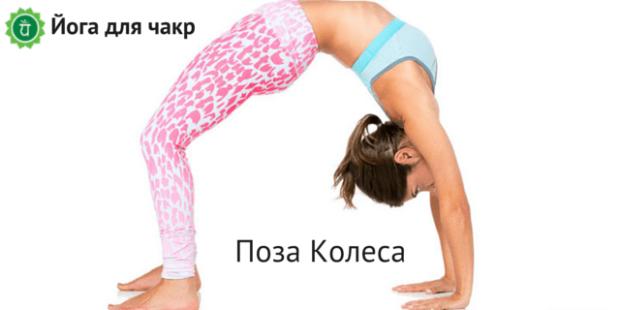 Поза колеса в йоге