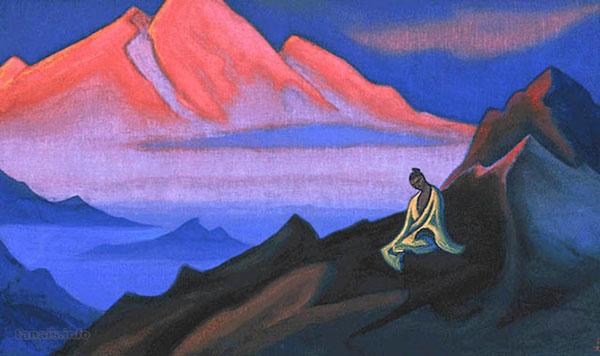Сила мысли - иллюстрация Н.Рериха