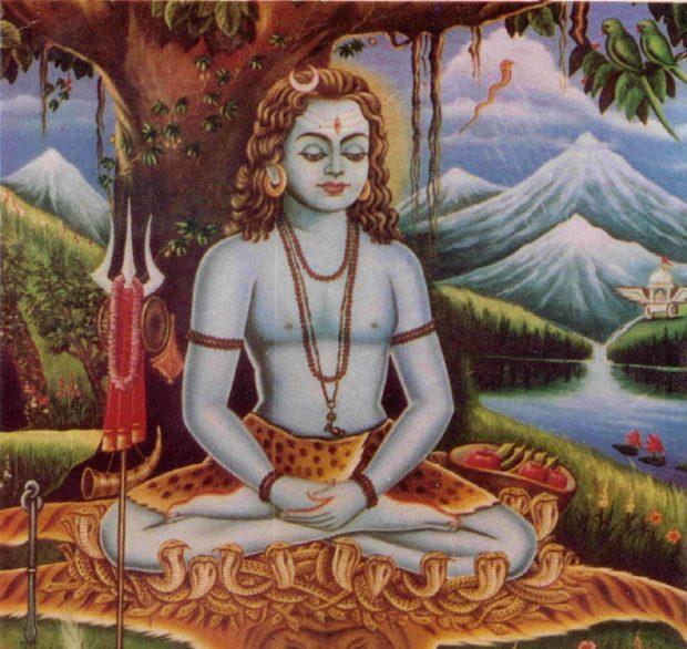 Иллюстрация из манускрипта о хатха йоге