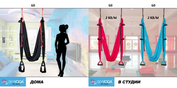 Правила размещения гамака для йоги