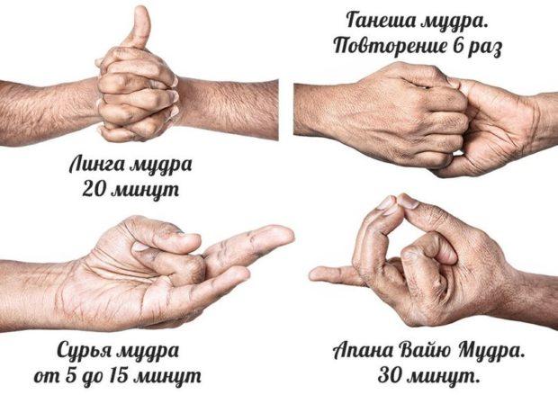 Основные мудры для пальцев