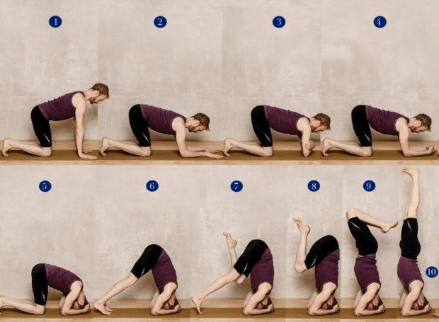 Sirsasana Ширшасана (подушка или стойка на голове) - как выполнять