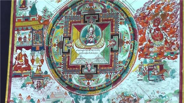 Фреска о йоге в тибетском храме