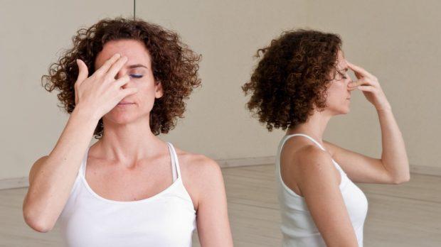 Попеременное дыхание - положение пальцев