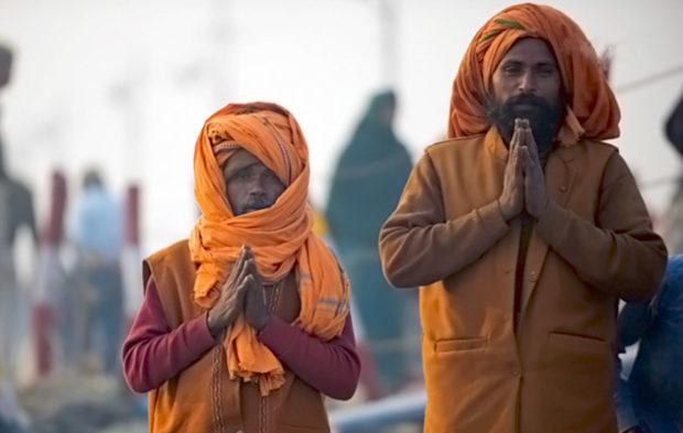 Приветствие в Индии - намасте