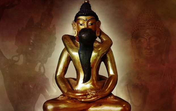Шива и Шакти - золотая скульптура