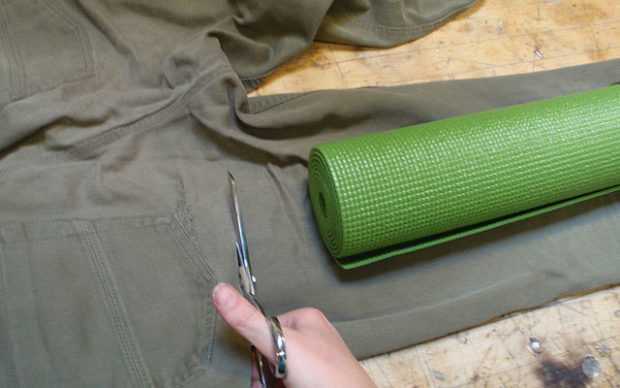 Изготовление чехла из джинсов