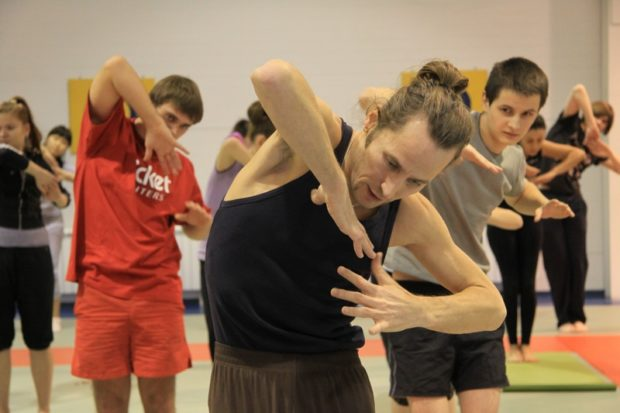 Обучение технике боевой йоги