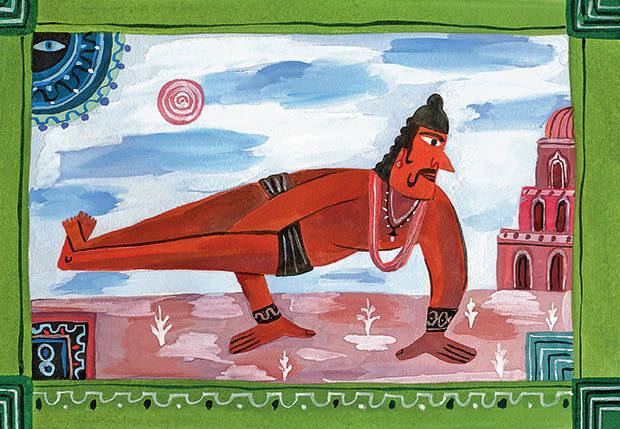 Легенда о Аштавакре - старинный рисунок