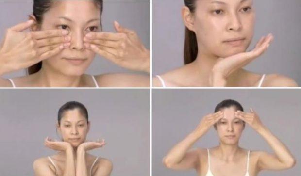 Юкуко Танака показывает методику массажа