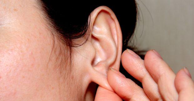 Растирания мочки уха
