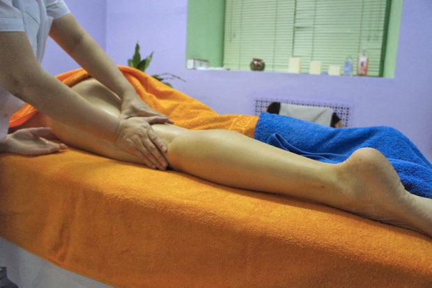 Салонный массаж