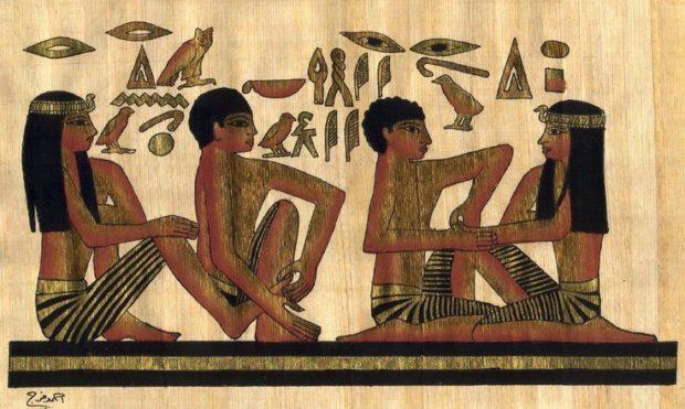 Массаж на фресках Древнего Египта