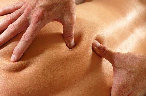 Выполнение точечного массажа