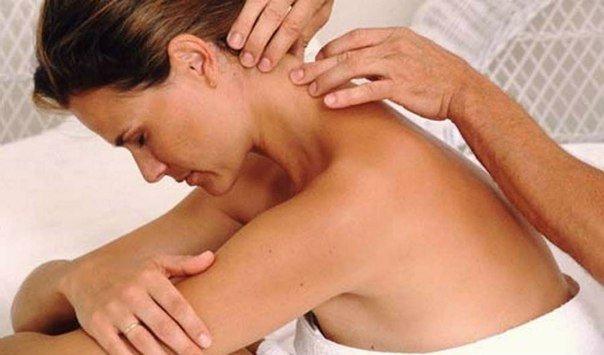 Массаж шеи от головной боли