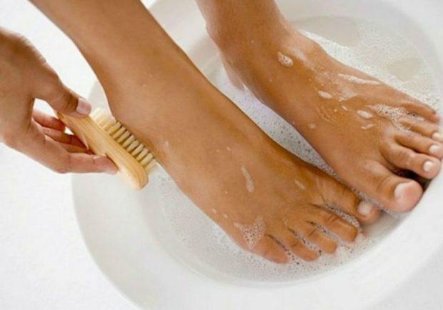 Распаривание ног перед массажем