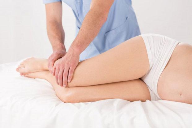 Массаж ног беременным