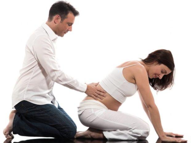 Массаж беременным сидя