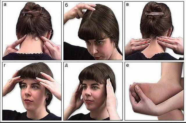 Активный точки от головной боли