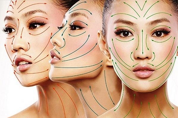 Массажніе линии лица