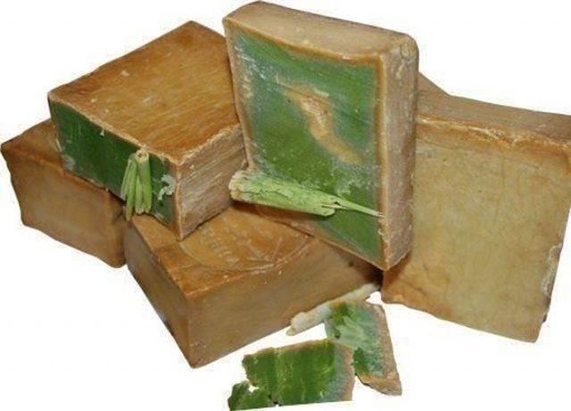 Зеленое оливковое мыло для турецкого массажа