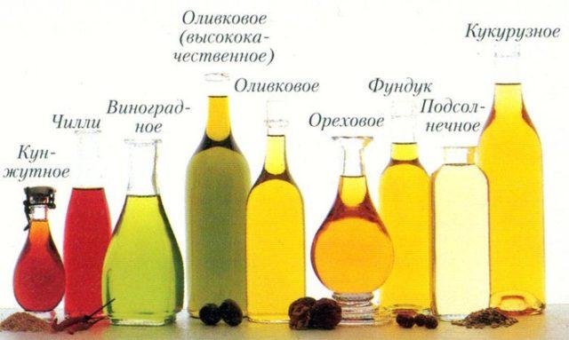 Основные масла для массажа
