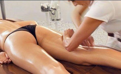 Выполнение массажа с медом