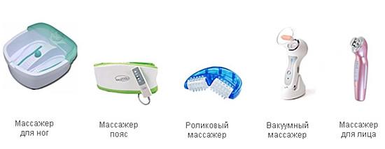 Массажеры для разных частей тела
